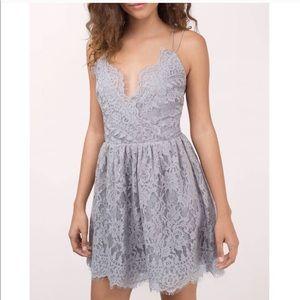 Tobi Emalea Grey Skater Dress